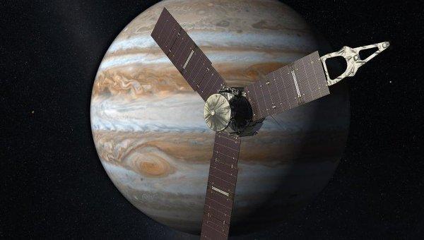 Американский зонд Juno вышел наорбиту Юпитера