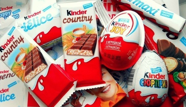 Впродукции Kinder обнаружены вызывающие рак вещества