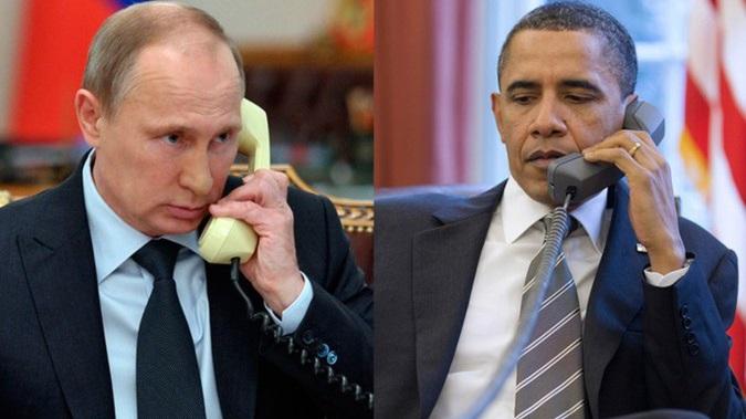 Путин иОбама обсудили потелефону ситуацию вСирии инавостоке Украины