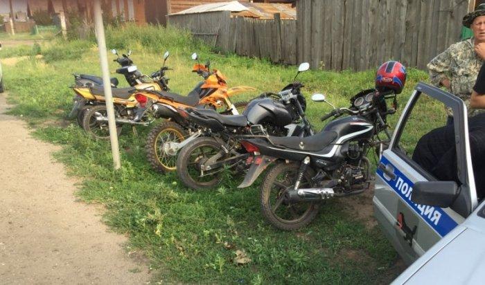 В Приангарье в течение суток на Байкальском тракте выявлено пять  подростков на скутерах
