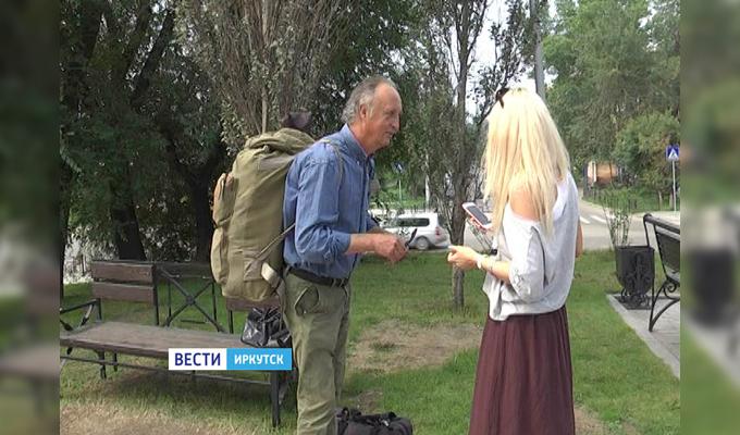 Итальянец, путешествующий автостопом, добрался из Португалии в Иркутск