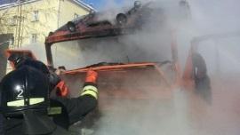 В Иркутском районе сгорел «КамАЗ»