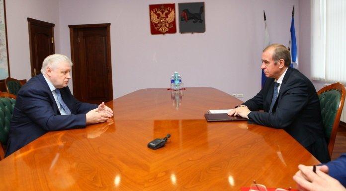 Сергей Левченко провел встречу с руководителем «Справедливой России» Сергеем Мироновым