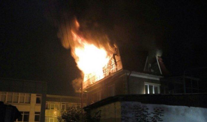 В Иркутске ночью произошел пожар в гостиничном комплексе City Hotel на Ядринцева