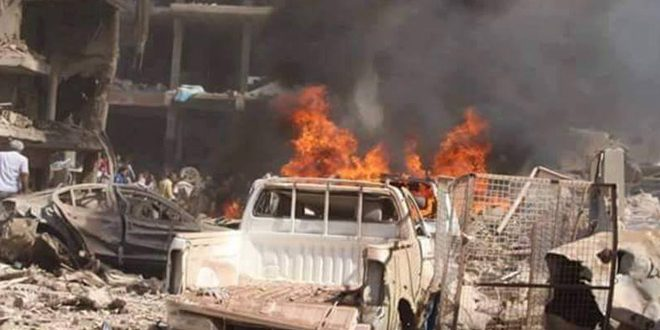 Всирийском городе Камышлы взорвался заминированный автомобиль