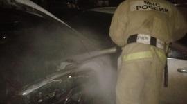 ВУсть-Илимске ночью сгорел автомобиль