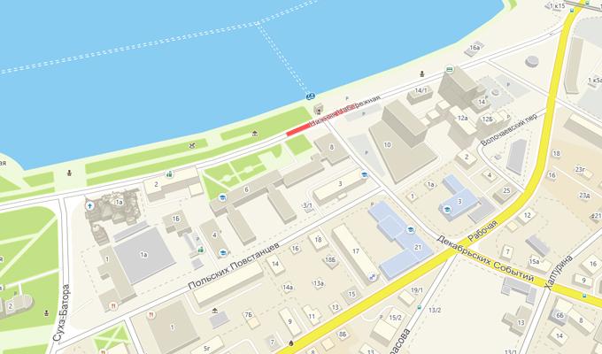 В Иркутске почти на месяц перекроют участок улицы Нижней Набережной
