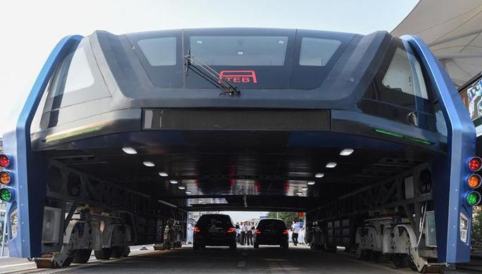 ВКитае прошли испытания портального автобуса TEB