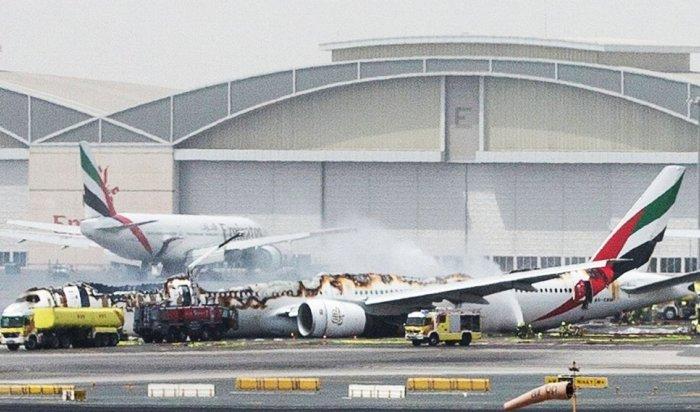 Boeing 777загорелся при посадке вДубае