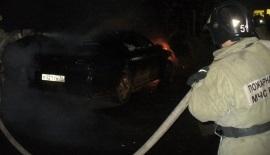 В Братске ночью сгорел автомобиль