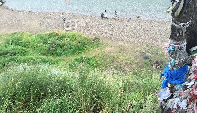Новосибирцы устроили драку вЛиствянке, один человек упал собрыва