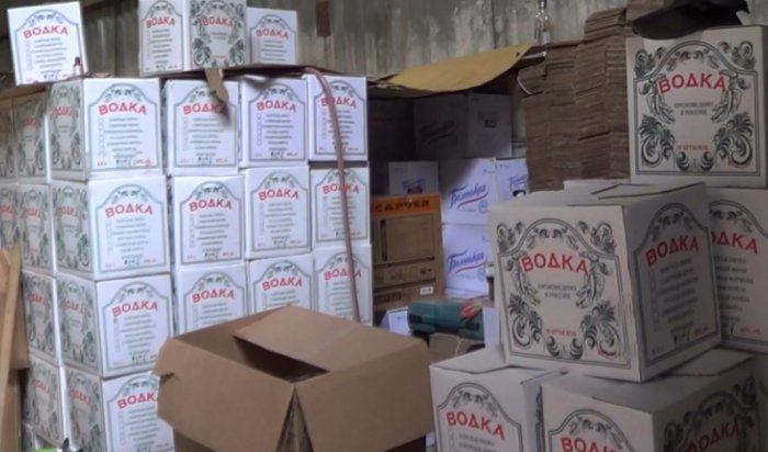 В Иркутске ликвидирован подпольный цех по производству фальсифицированного алкоголя
