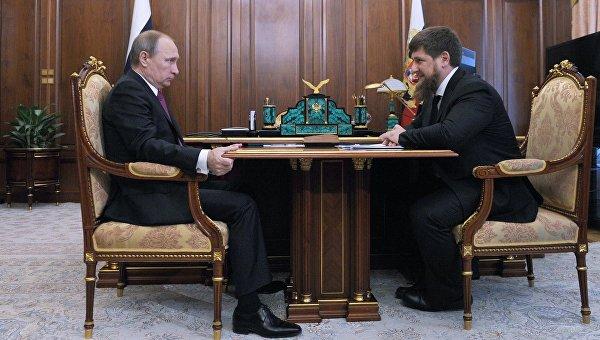 ВКремле состоялась ночная встреча Путина сКадыровым