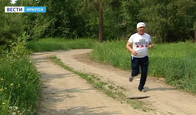 65-летний инвалид добежал из Ангарска до Москвы