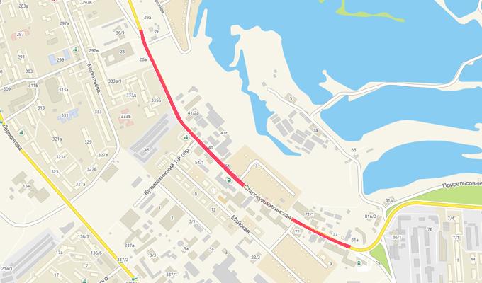 В Иркутске до 1 октября  ограничат движение по улице Старокузьмихинской