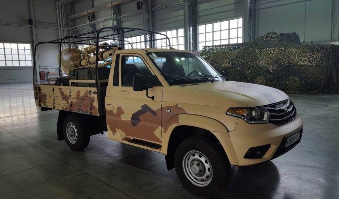 UAZ Cargo для военных оснастили минометом