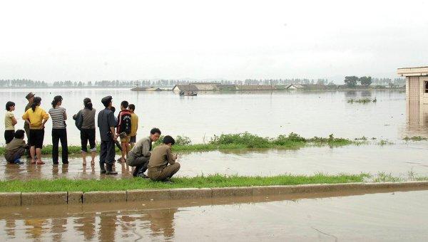 ВСеверной Корее из-за наводнения погибли 133человека