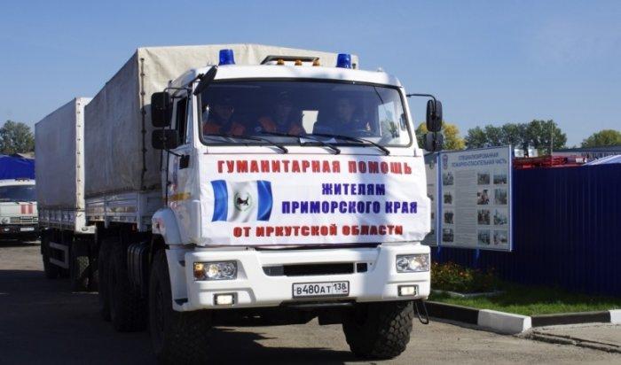 Из Иркутской области в Приморье отправили около 30 тонн гуманитарного груза