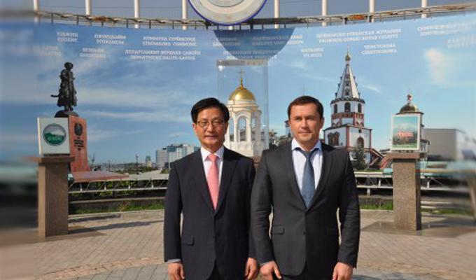 Дмитрий Бердников  провел встречу с мэром корейского города Каннын