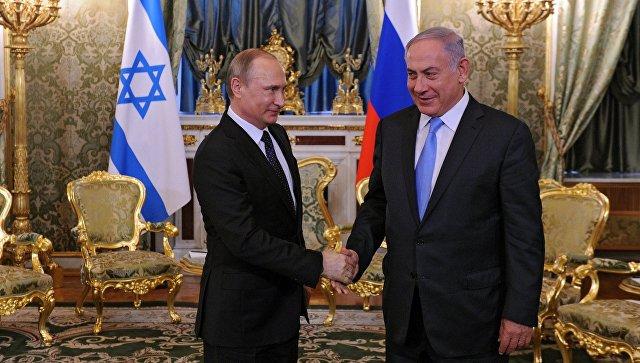 Путин обсудил сНетаньяху ситуацию наБлижнем Востоке