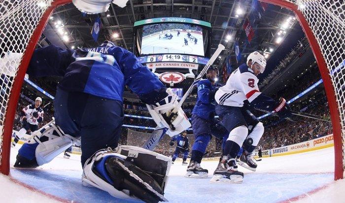 Сборная Европы разгромила команду США в первом матче Кубка мира по хоккею