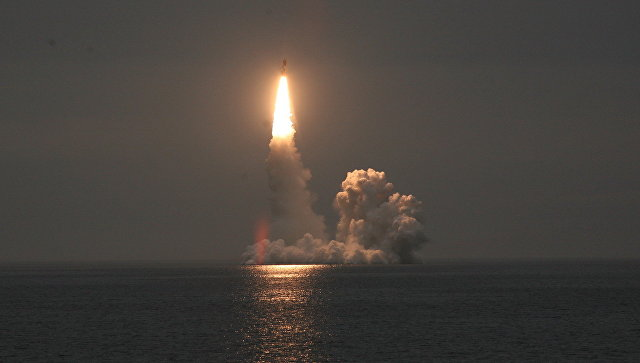 Запущенная в Белом море ракета «Булава» самоликвидировалась в полете