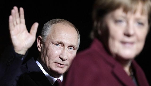 Путин, Меркель иОлланд завершили переговоры поСирии вБерлине