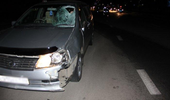 В Ангарском районе водитель автомобиля Nissan Liberty насмерть сбил 68-летнего пешехода