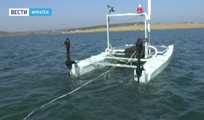Иркутские ученые изобрели катамаран-робот, который будет исследовать водоемы