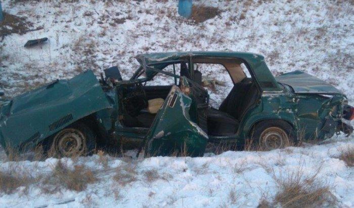 ВПриангарье водитель «ВАЗа» погиб, врезавшись впоезд