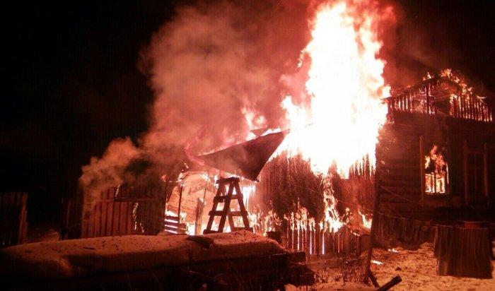 ВБайкальске припожаре вчастном доме погибли два человека