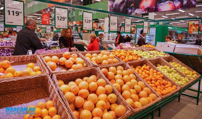 В Иркутской области в октябре заметно подорожали овощи, фрукты, яйца, молоко
