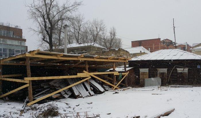 Реставрация Дома Шубиных в Иркутске идет в соответствии с графиком