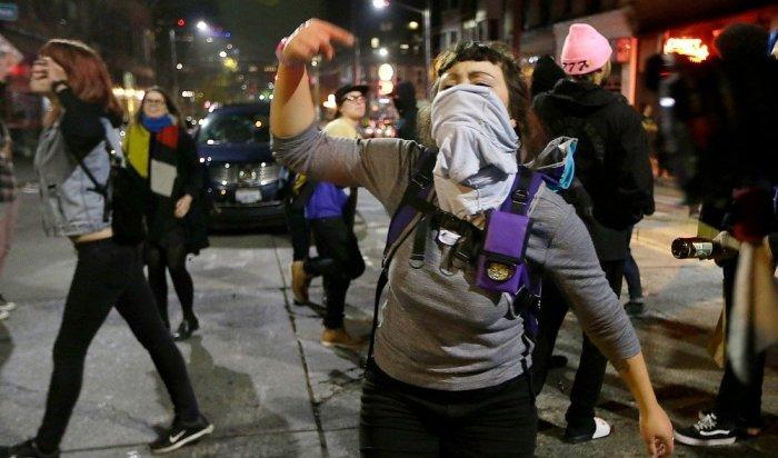ВОрегоне акции протеста против избрания Трампа переросли вбеспорядки