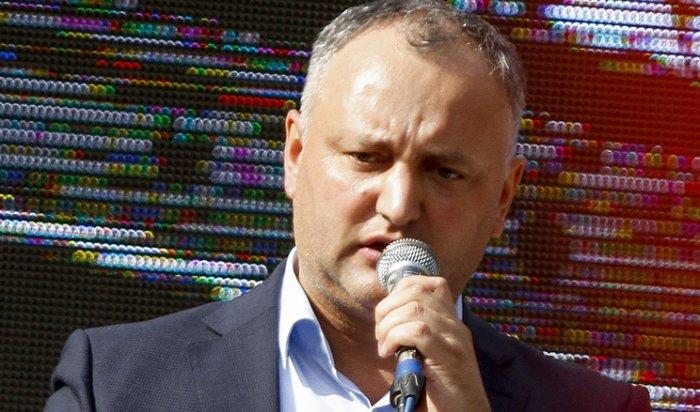 Додон заявил опобеде навыборах президента Молдавии