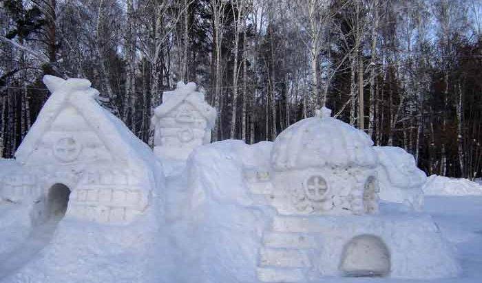 В Ленинском округе Иркутска выберут лучший снежный городок