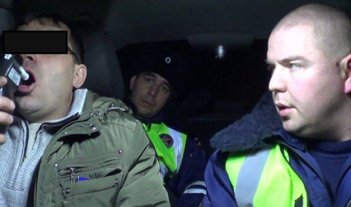 В Приангарье за выходные задержано 173 пьяных водителя