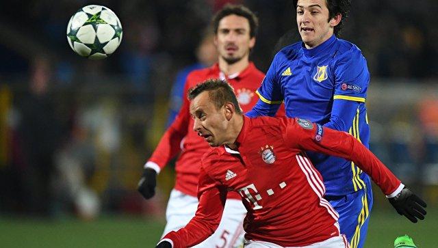 «Ростов» обыграл «Баварию» вматче Лиги чемпионов