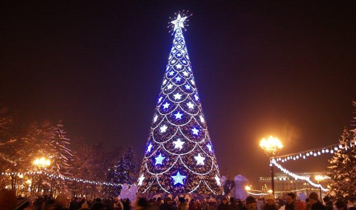 В Иркутске начали устанавливать главную ёлку высотой 27,5 метра