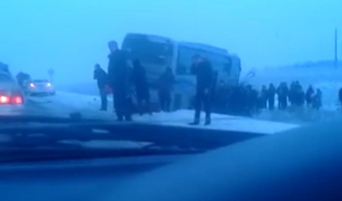ВУсольском районе вДТП с участием автобуса иавтомобиля «Тойота» пострадали четыре человека
