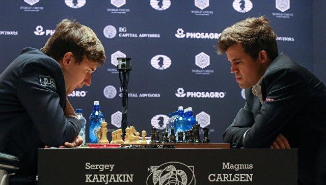 Карякин иКарлсен сыграли вничью в12-й партии матча зашахматную корону