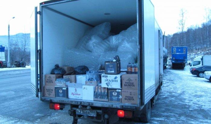В Слюдянском районе полицейские изъяли около 5 тонн контрафактного алкоголя