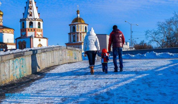 В первый день зимы в Иркутске днем ожидается +2º