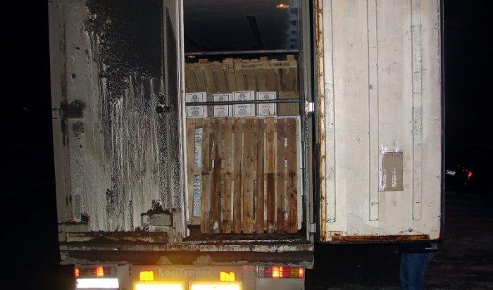 Около 8 тысяч литров контрафактной водки обнаружено в фуре в Слюдянском районе