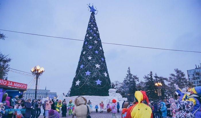 ВИркутске открылись главная ёлка города иледяной городок. Смотри фотоотчет