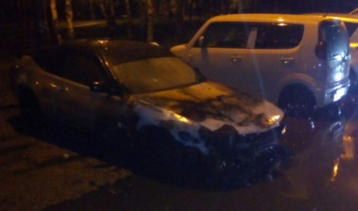 Ночью 18 мая в Иркутске сгорел автомобиль Honda Prelude