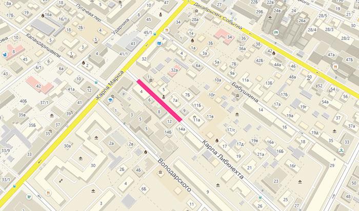 В Иркутске на месяц ограничат движение по улице Карла Либкнехта