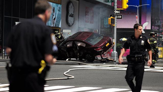 НаТаймс-сквер вНью-Йорке водитель протаранил толпу людей