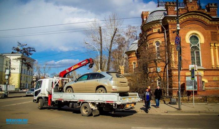 В Иркутске за месяц к ответственности привлечено 11 водителей эвакуаторов