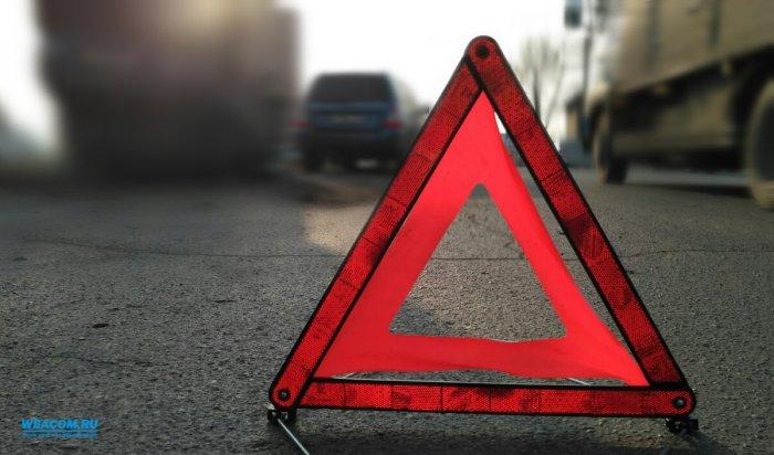 В Усольском районе в ДТП на месте дорожных работ пострадал мужчина